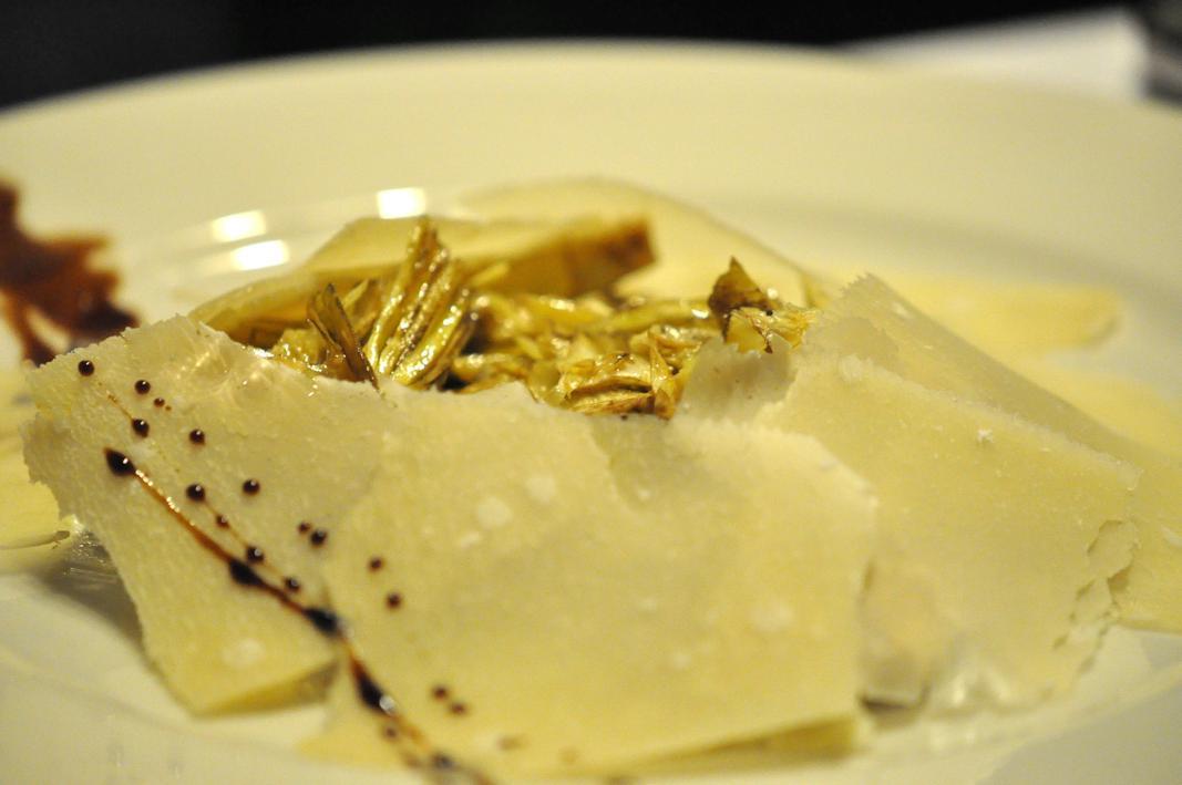 insalata di carciofi, Antica Osteria del Mirasole, Chef Franco Cimini, San Giovanni in Persiceto, Bologna