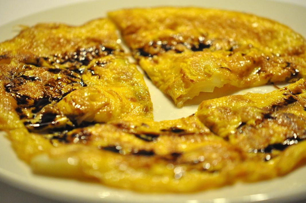 frittata di cipollotto, Antica Osteria del Mirasole, Chef Franco Cimini, San Giovanni in Persiceto, Bologna