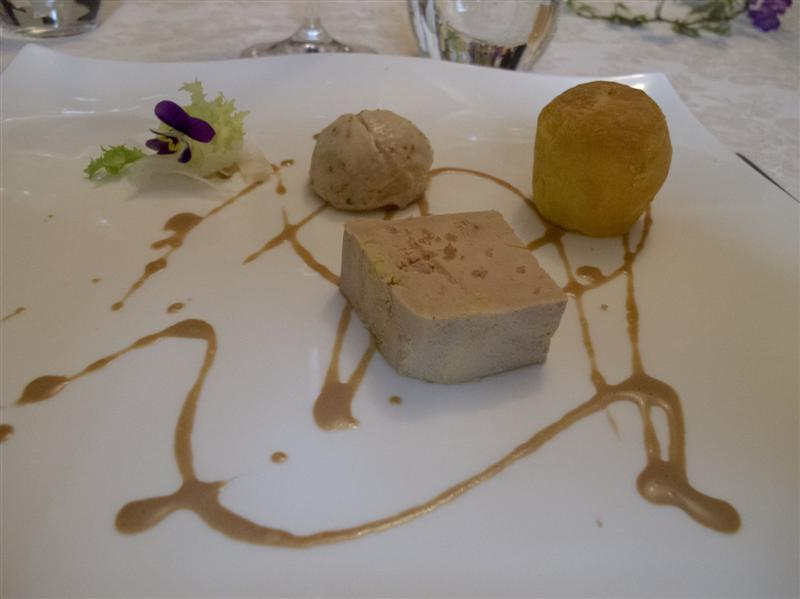 terrina di foie gras, Nido del Picchio, Chef  Daniele Repetti, Carpaneto, Piacenza