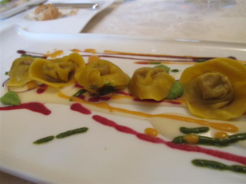 Cappellacci d'anatra, Nido del Picchio, Chef  Daniele Repetti, Carpaneto, Piacenza