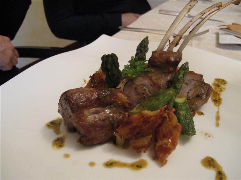 agnello al forno e verdure i stagione, Nido del Picchio, Chef  Daniele Repetti, Carpaneto, Piacenza