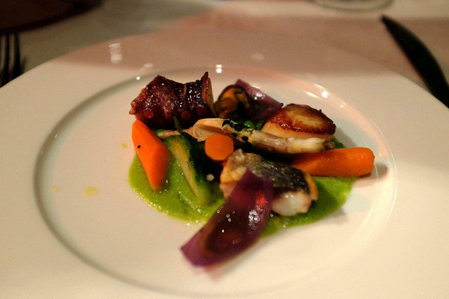 insalata di mare con ortaggi, Bottega del Vino, Chef Dario Macchi, Milano