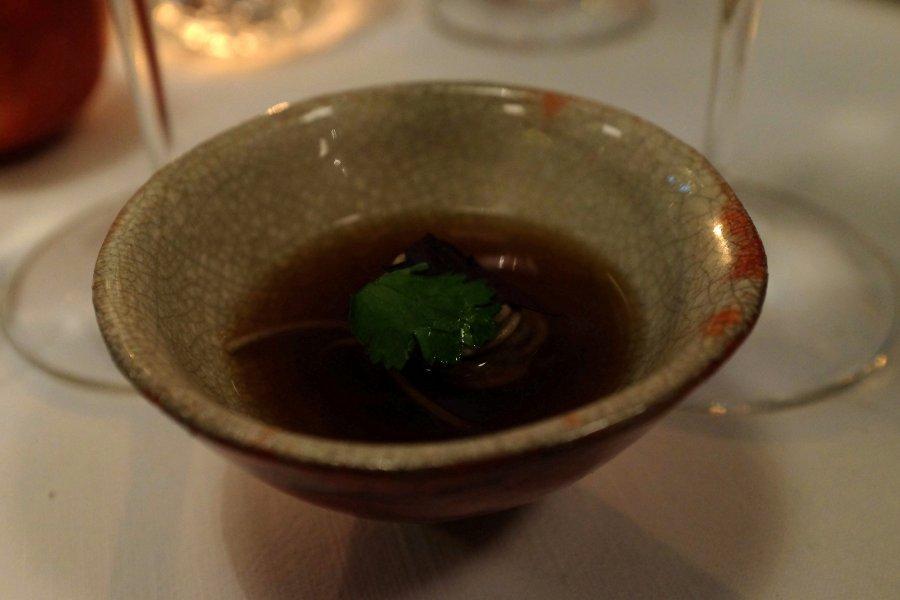 brodo di melanzana, Il Pagliaccio, Chef Anthony Genovese, Roma
