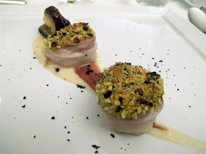 rana pescatrice lardellata, Locanda dell'Angelo, chef Mauro Ricciardi, Ameglia