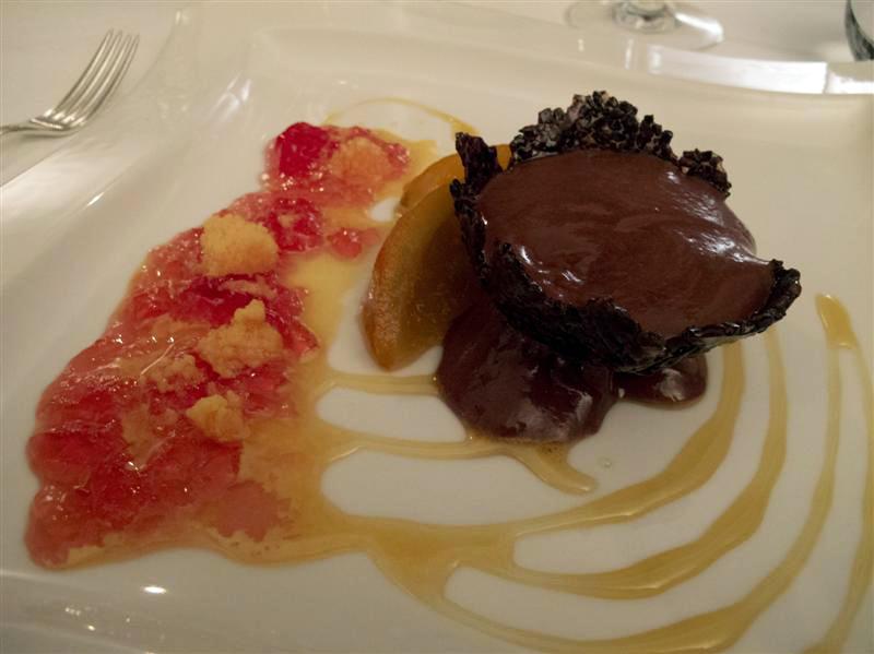 cioccolata, granita, campari, Locanda dell'Angelo, chef Mauro Ricciardi, Ameglia