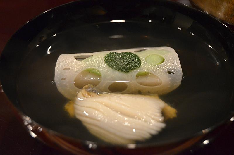 zuppa di abalone, Taian, Chef Hitoshi Takahata, Osaka, Japan