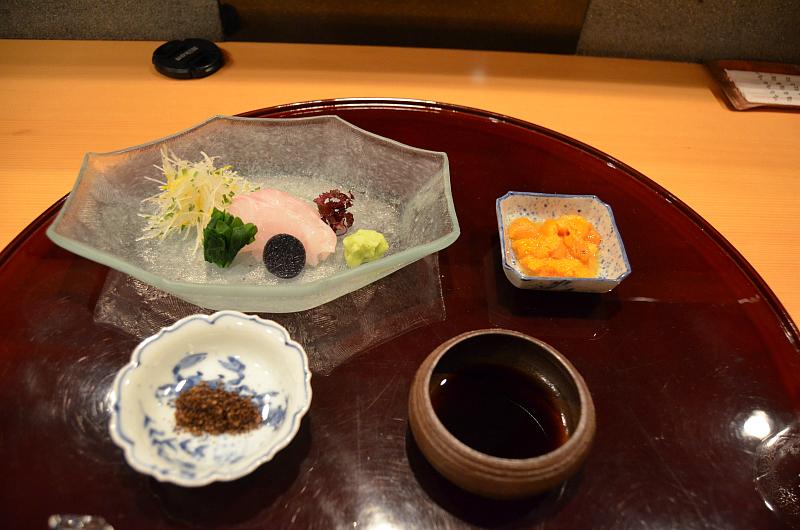 sashimi, Taian, Chef Hitoshi Takahata, Osaka, Japan