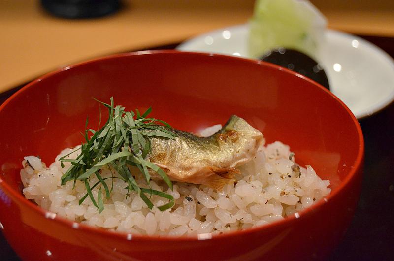 riso bianco e ayu, Taian, Chef Hitoshi Takahata, Osaka, Japan