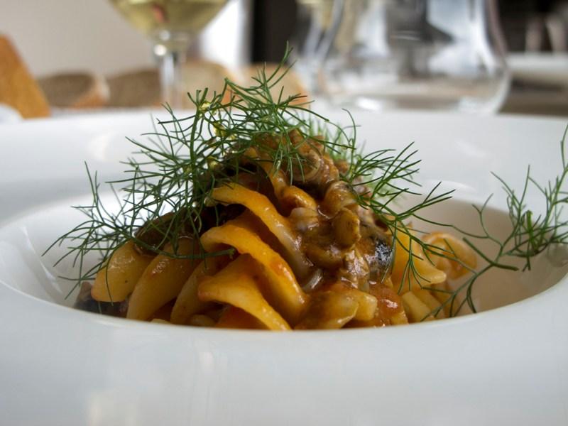 eliche con lumachine e bergamotto, Le Giare, Chef Gianluca Gorini, Montiano, Cesena