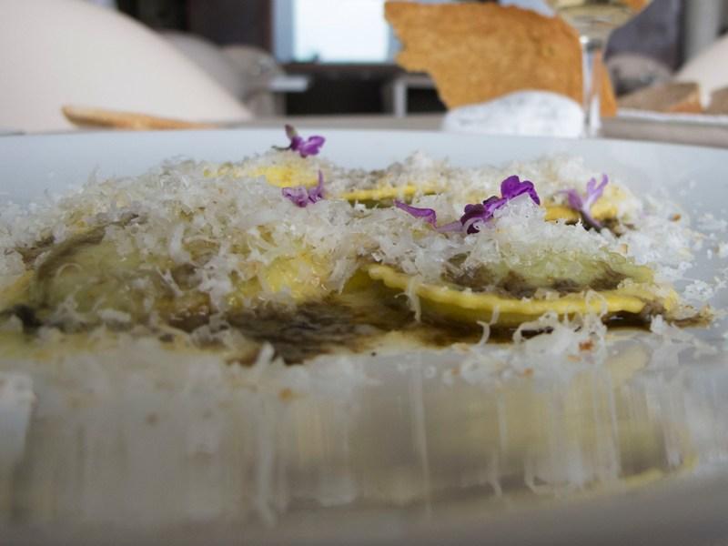 ravioli di erbe selvatiche, Le Giare, Chef Gianluca Gorini, Montiano, Cesena