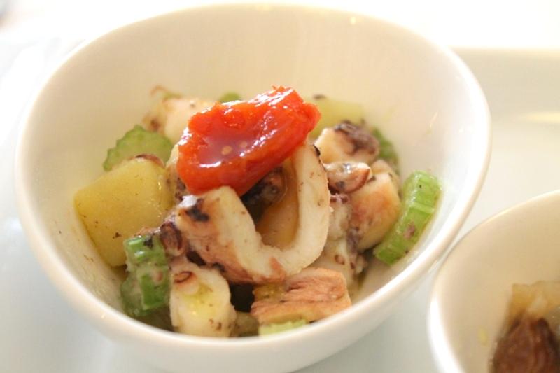 insalata di polpo, ABC Quadri, Famiglia Alajmo, Venezia
