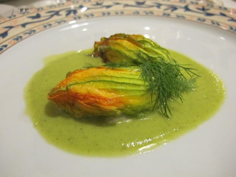 fiori di zucca farciti, I Sette Consoli, chef Anna Simoncini, Orvieto