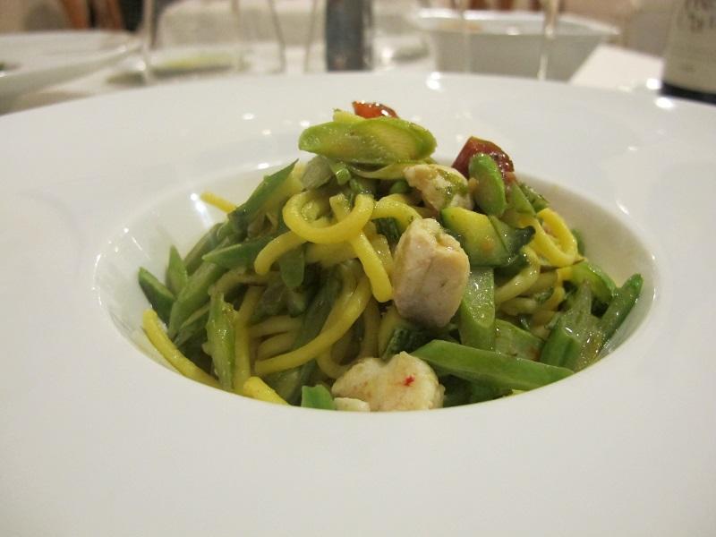 tagliolini al pesce salmerino, I Sette Consoli, chef Anna Simoncini, Orvieto