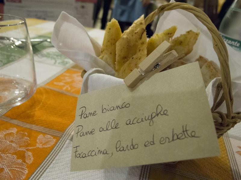 pane, Trattoria Barsotti, Chef Lorenzo Barsotti, Marzabotto