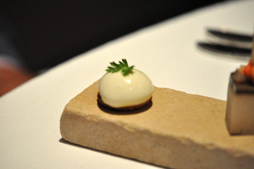 Amuse bouche, Le Jardin des Ramparts, Chef C. Bocquillon, Beaune