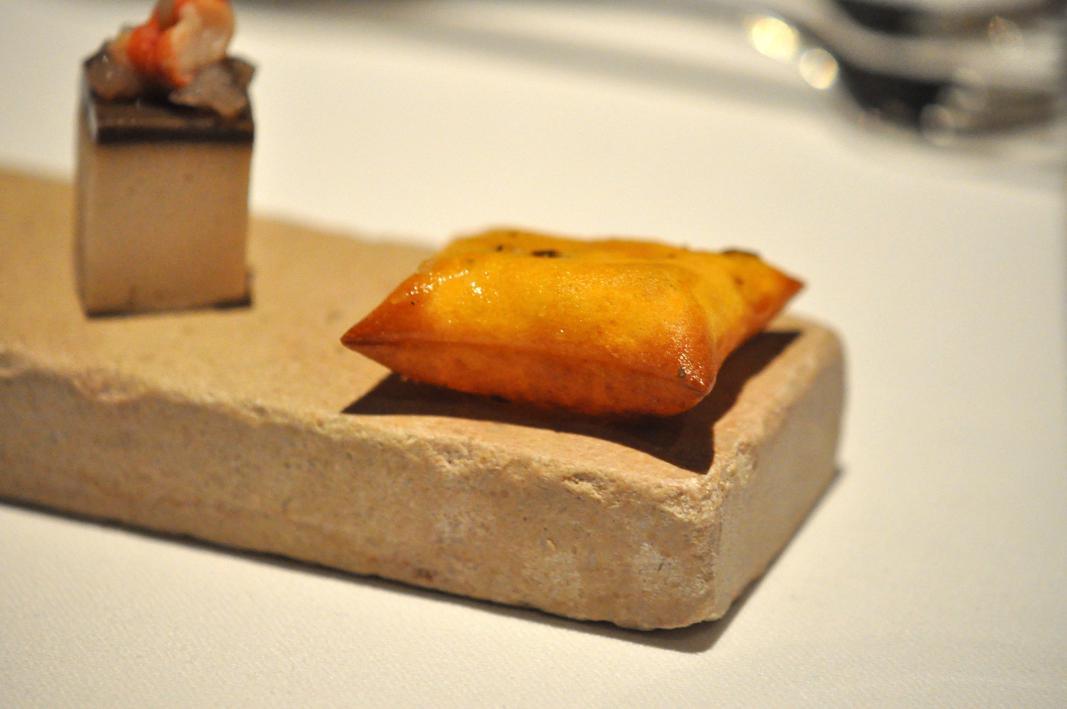 am use bouche, Le Jardin des Ramparts, Chef C. Bocquillon, Beaune