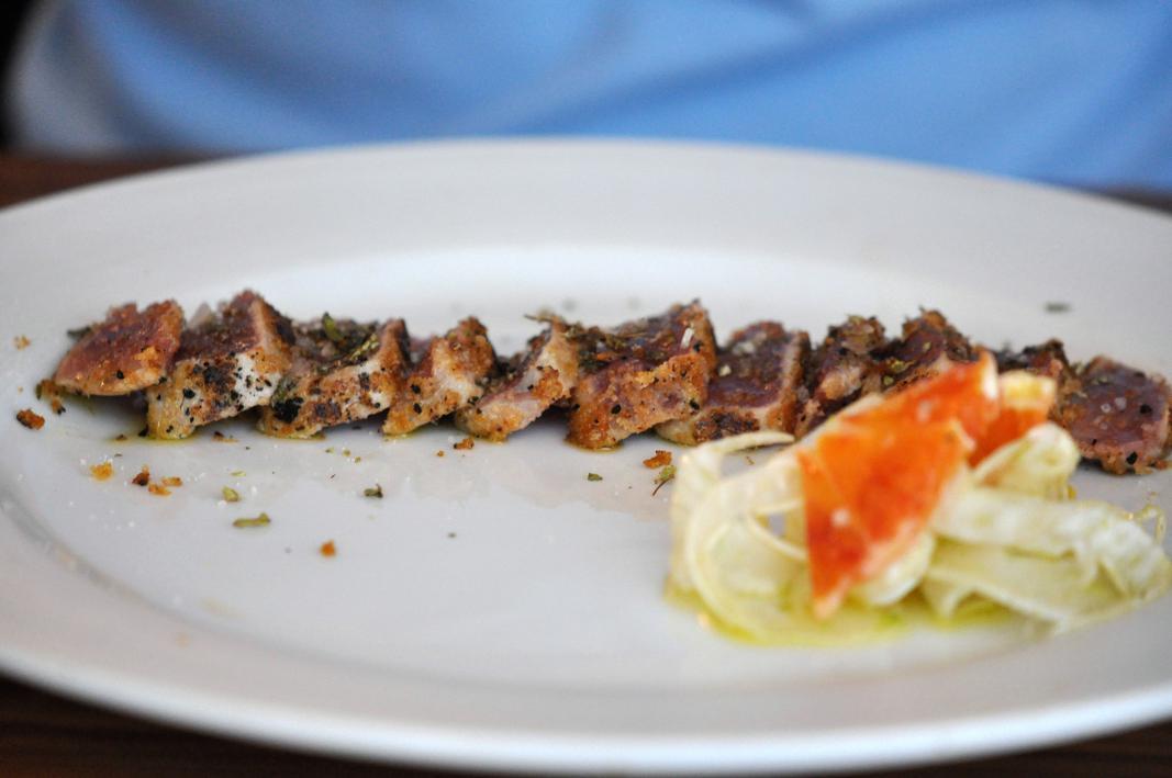 Tonno al ricordo di Palermo, Il Grano di Pepe, Chef Rino Duca, Ravarino