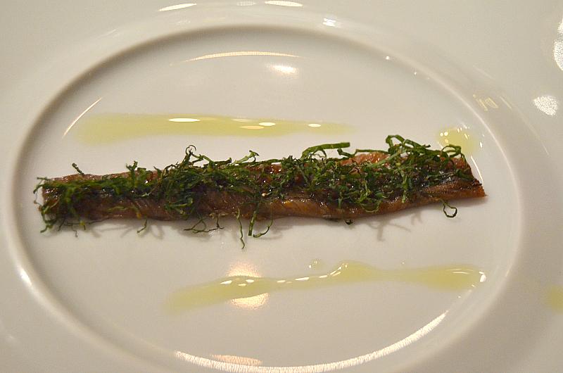 Acciugha del mar cantabrico,  Perbellini, chef Giancarlo Perbellini, Isola Rizza, Verona