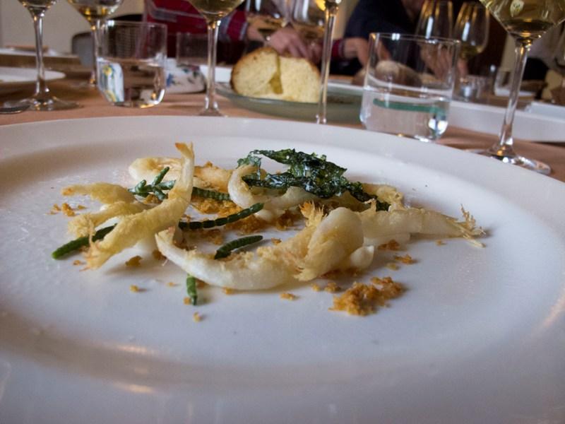 Aioli, schie bianche, Antica Osteria del Ponte, Chef Salmoiraghi, Cassinetta di Lugagnano, Milano
