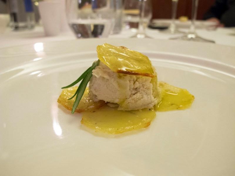 mousse di pollo arrosto, Due Cigni, Chef Rosaria Morganti, Montecosaro, Macerata