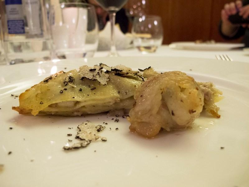 lasagna bianca in salsa di guanciale, Due Cigni, Chef Rosaria Morganti, Montecosaro, Macerata