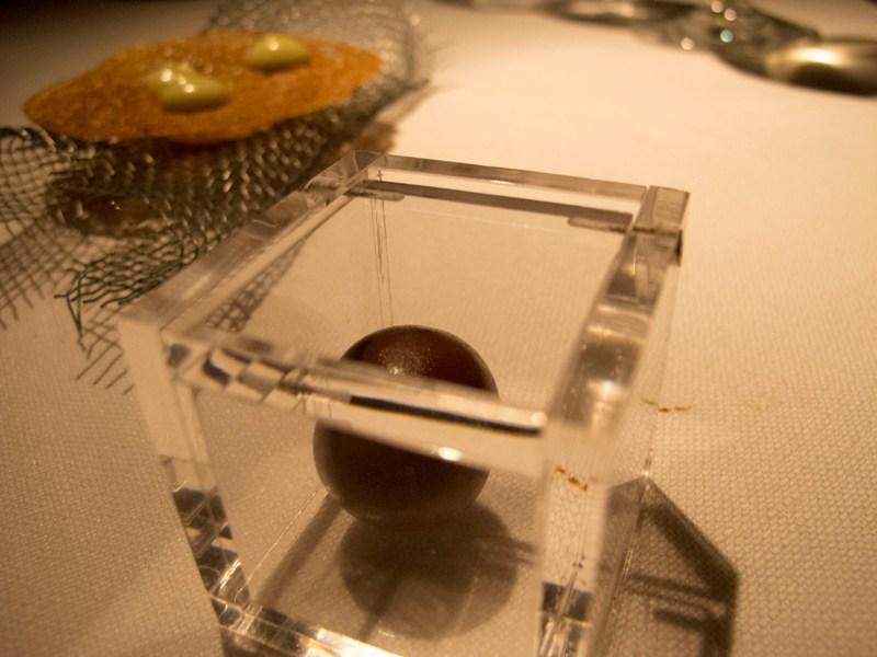 sfera di oliva, Pipero al Rex, Chef Luciano Monosilio, Roma