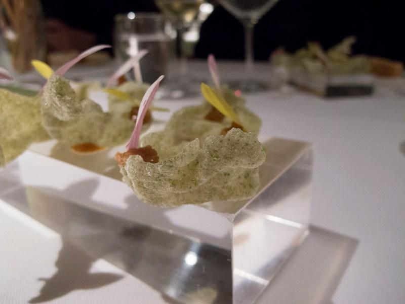 Cialde soffiate di riso, Pipero al Rex, Chef Luciano Monosilio, Roma
