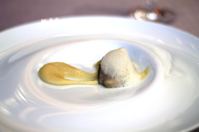 ostrica tiepida, Abantal, Chef Julio Fernández Quintero, Sevilla