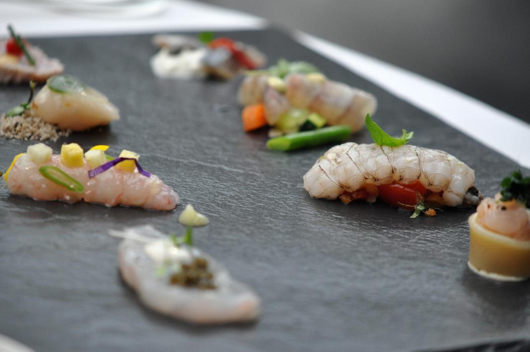 scaletta di crudi, Antica Osteria Cera, Chef Cera, Campagna Lupia