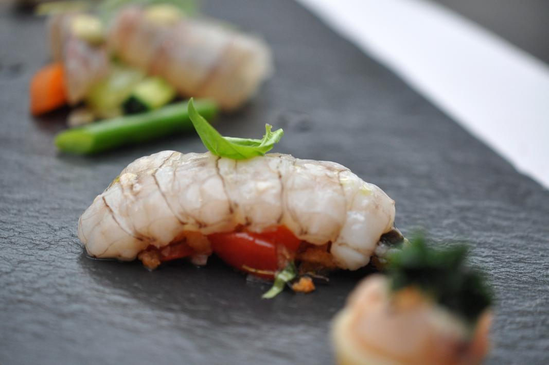 Canocchia scottata, Antica Osteria Cera, Chef Cera, Campagna Lupia