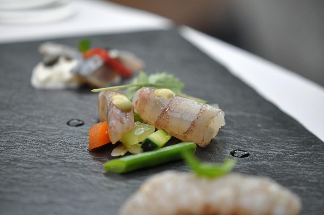 Mazzancolla shabu-shabu, Antica Osteria Cera, Chef Cera, Campagna Lupia