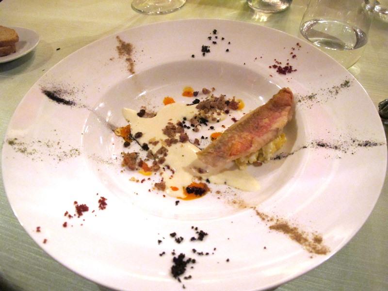 triglia in frittura, Enoteca al Parlamento, chef Massimo Viglietti, Roma