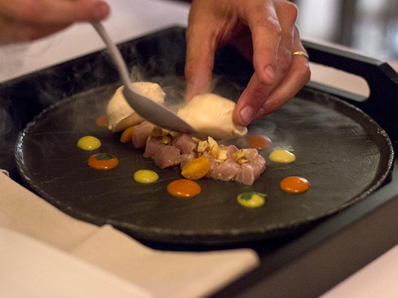 dadolata di ricciola, Al Mercato, Chef Nespor, Roncoroni, Milano