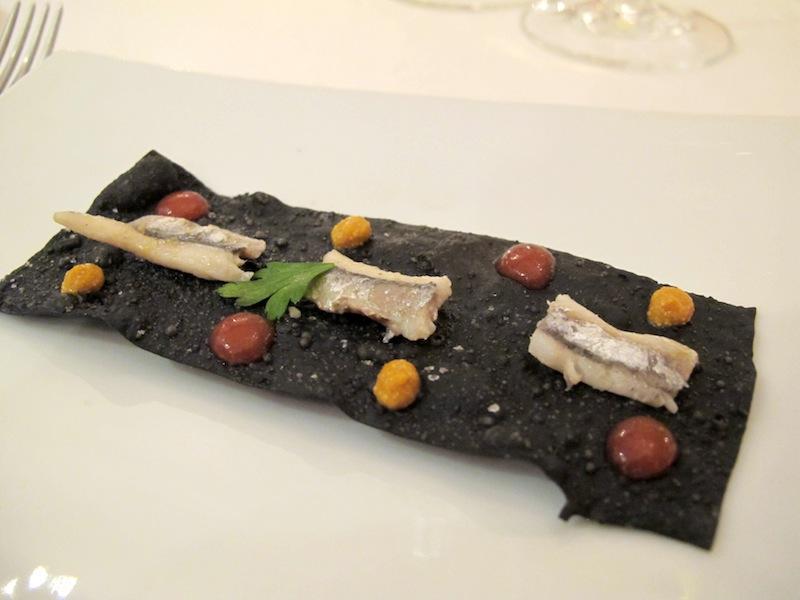 cracker nero di seppia, Pascucci al porticciolo, Chef G. Pascucci, Fiumicino