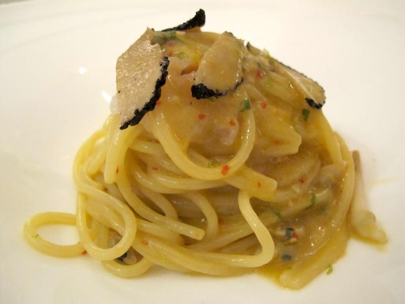 spaghetti con gamberi, Pascucci al porticciolo, Chef Gianfranco Pascucci, Fiumicino, Roma