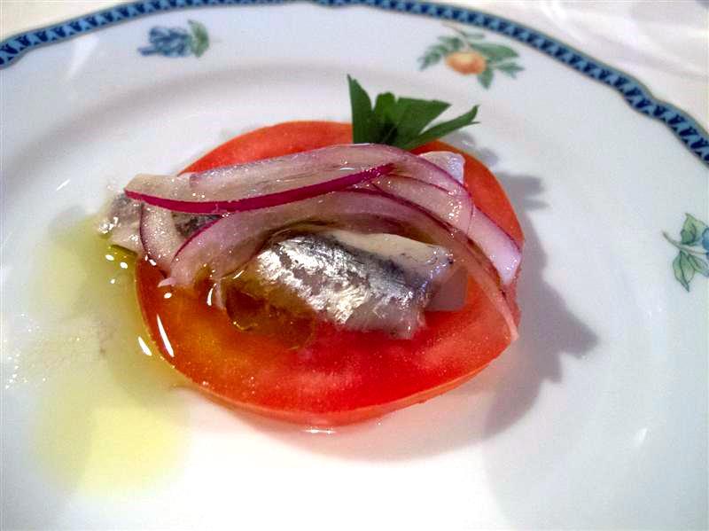 alice pomodoro e cipolla fresca, La Pineta, chef Luciano Zazzeri, Marina di Bibbona