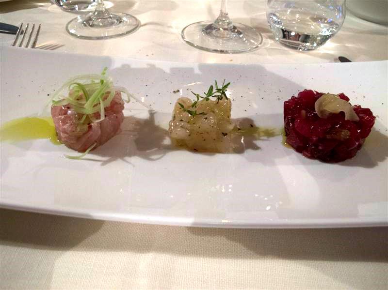 tartare della pineta, La Pineta, chef Luciano Zazzeri, Marina di Bibbona-