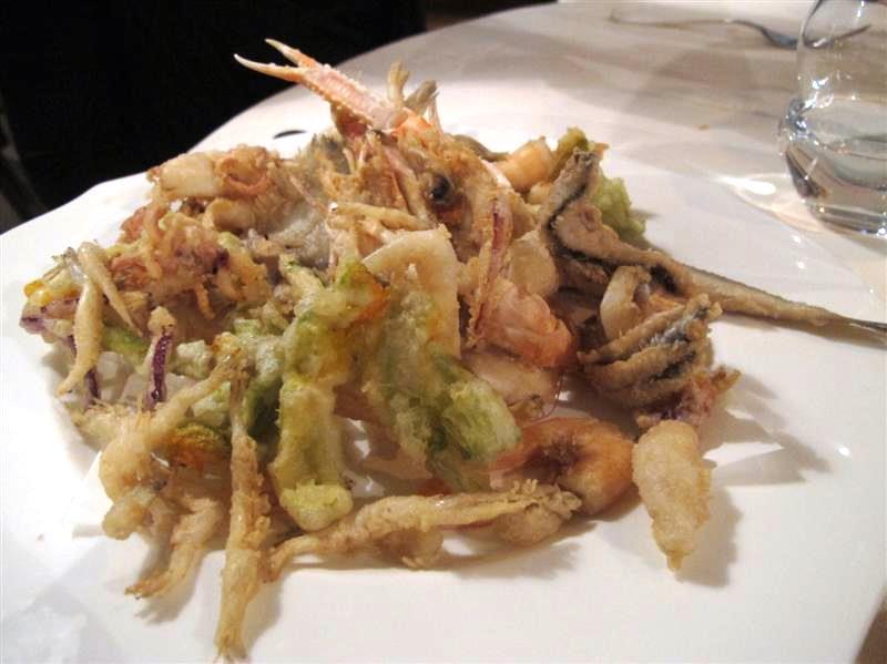 fritto di mare, La Pineta, chef Luciano Zazzeri, Marina di Bibbona-