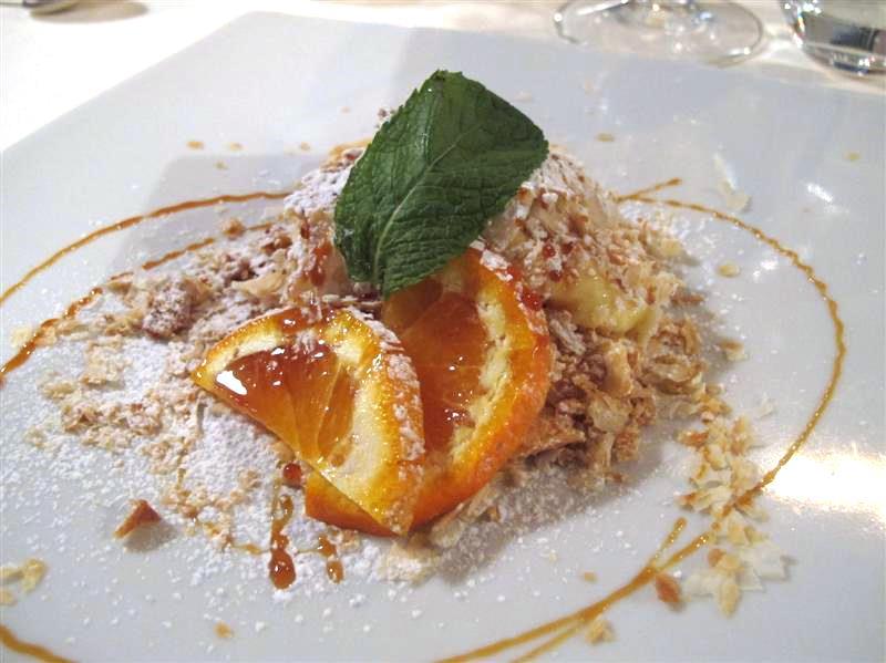 crema pasticcera e caramello, La Pineta, chef Luciano Zazzeri, Marina di Bibbona-