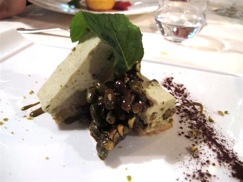semifreddo ai pistacchi, La Pineta, chef Luciano Zazzeri, Marina di Bibbona-