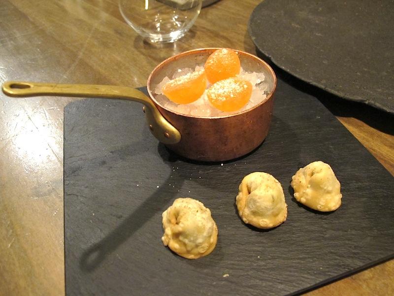 ravioli ripieni e spritz ghiacciato, Ristorante Settembrini, Chef Delmonte, Roma
