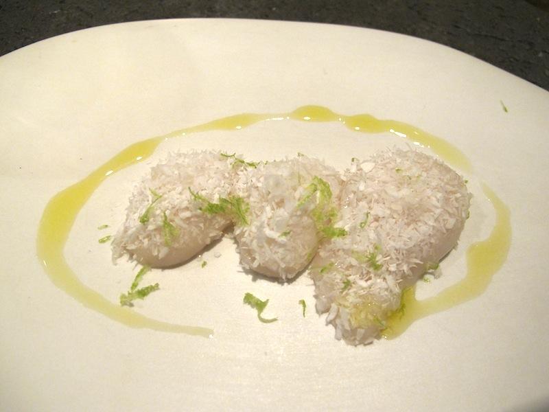 capasanta cocco cipolla lime, Ristorante Settembrini, Chef Delmonte, Roma