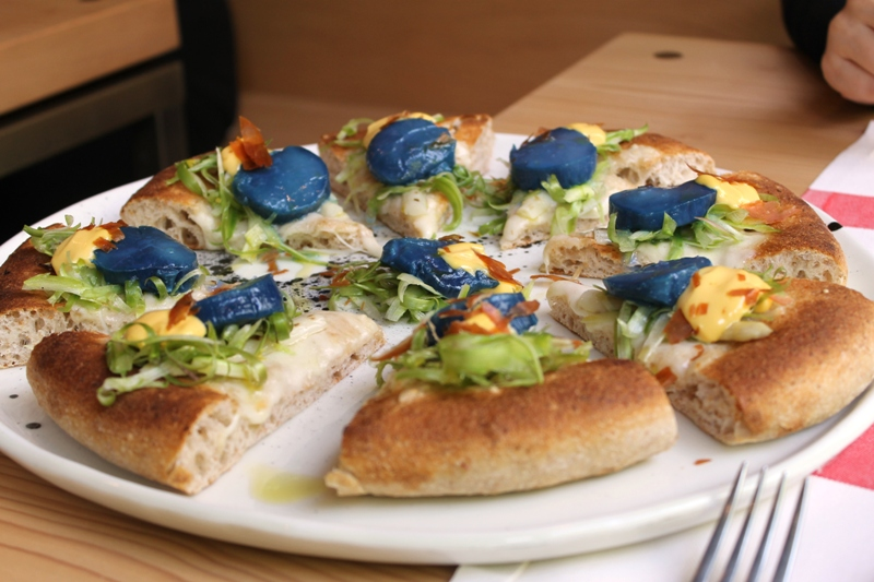 pizza, blu di capsanta, I Tigli, Chef Simone Padoan, San Bonifacio, Verona