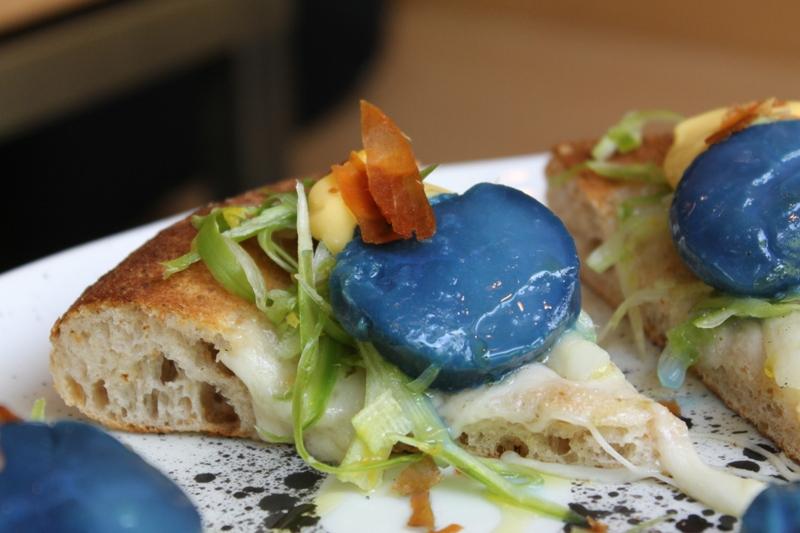 pizza, blu di capasanta, I Tigli, Chef Simone Padoan, San Bonifacio, Verona
