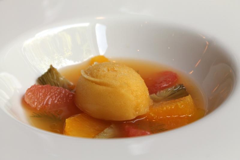 zupap di agrumi, I Tigli, Chef Simone Padoan, San Bonifacio, Verona