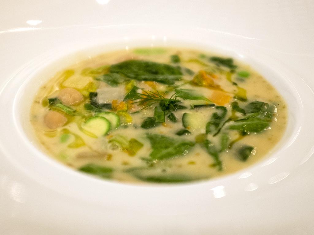 zuppa etrusca, Il Luogo di Aimo e Nadia, Chef Negrini, Pisani, Milano