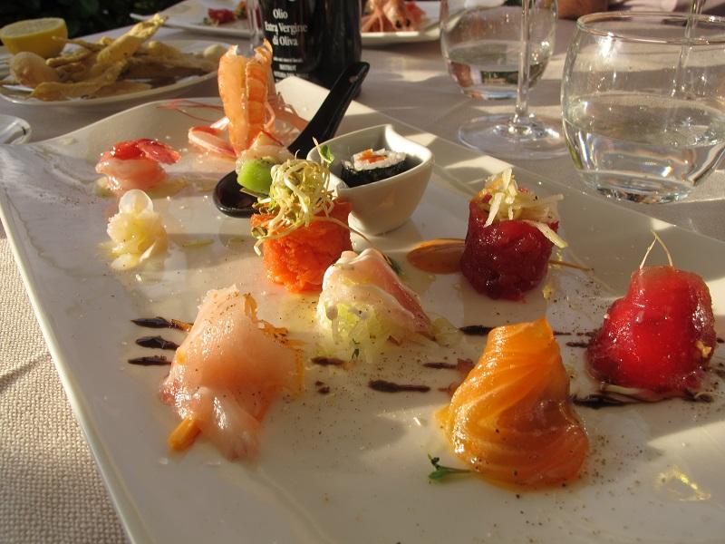 piatto di crudo, Bistrot, Chef Daniele Angelini, Forte dei Marmi