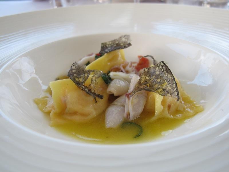 Ravioli ripieni di bottarga, Bistrot, Chef Daniele Angelini, Forte dei Marmi