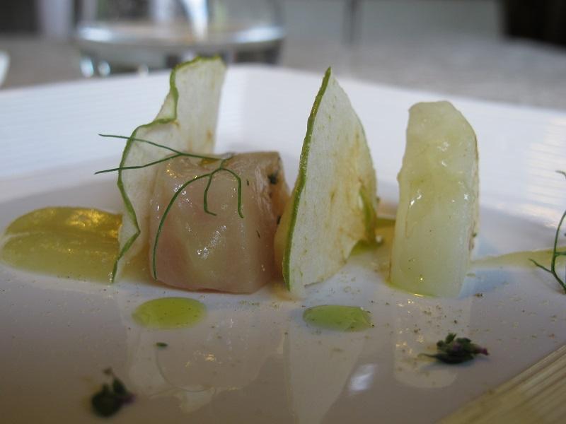 Salmerino marinato, Casin del Gamba, Chef Antonio Dal Lago, Altissimo, Vicenza