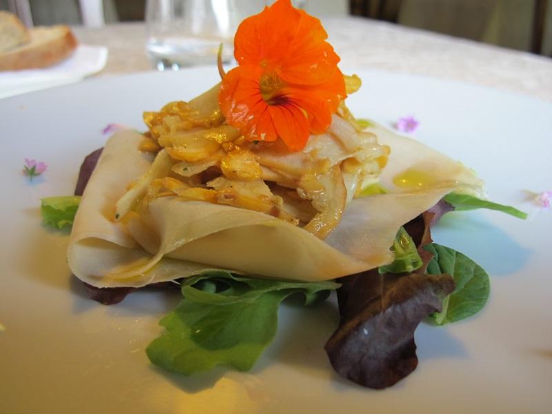 insalata di finferli, Casin del Gamba, Chef Antonio Dal Lago, Altissimo, Vicenza